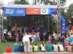 Festyn NSZZ Pracowników ArcelorMittal Poland S.A. wrzesień 2015 r. – stadion Hutnika