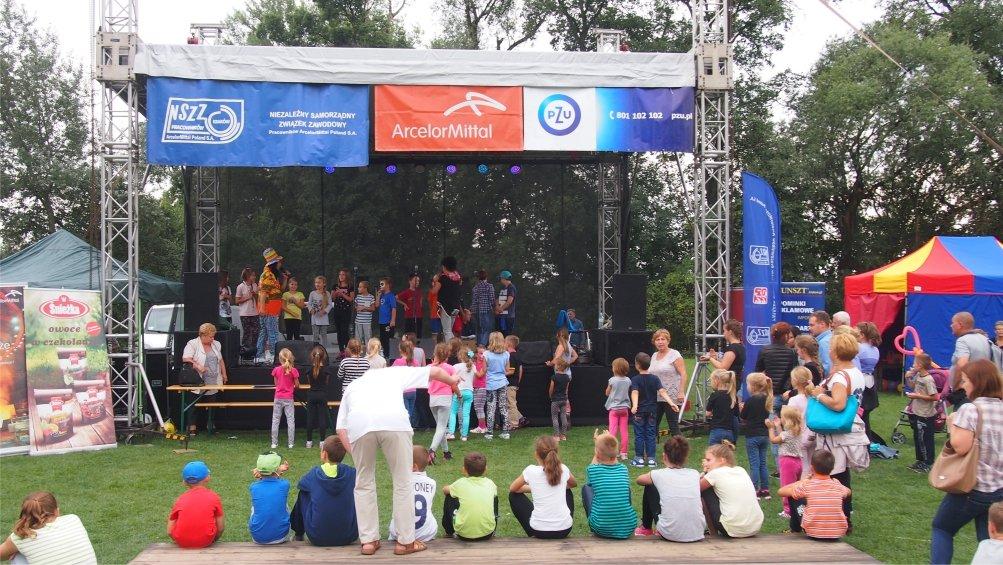 Festyn NSZZ Pracowników ArcelorMittal Poland S.A. wrzesień 2015 r. - stadion Hutnika