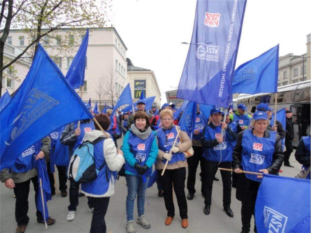 Manifestacja OPZZ w Warszawie - listopad 2012