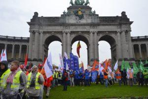 Manifestacja w Brukseli 2016